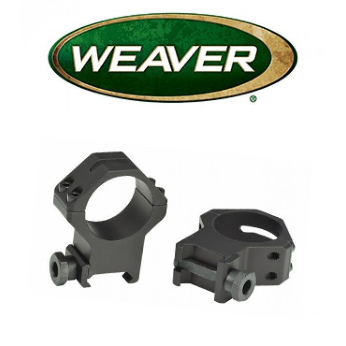 Anillas Weaver 4 Hole Tactical Picatinny de 30mm mate - Extra Altas