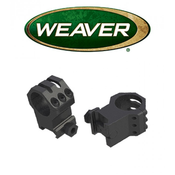 Anillas Weaver 6 Hole Tactical Picatinny de 30mm mate - Medias