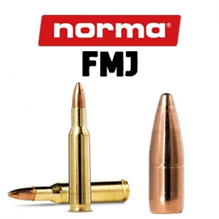 Cartuchos Norma .222 Remington 55 grains FMJ