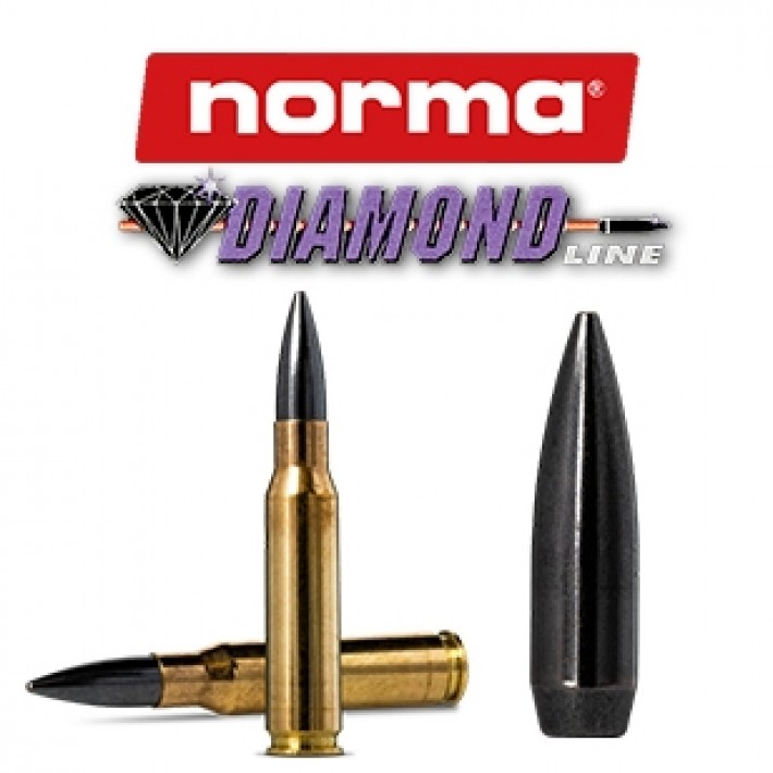 Cartuchos Norma .308 Winchester 168 grains Diamond Line