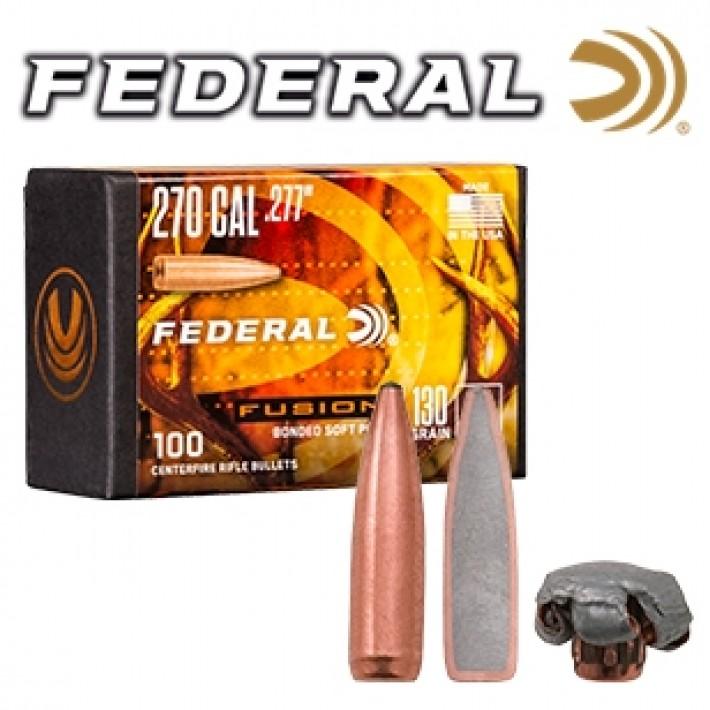 Puntas Federal Fusion calibre .277 (6,8mm) - 130 grains 50 unidades