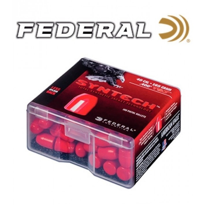 Puntas Federal Syntech TSJ .40 (.400) - 165 grains 100 unidades