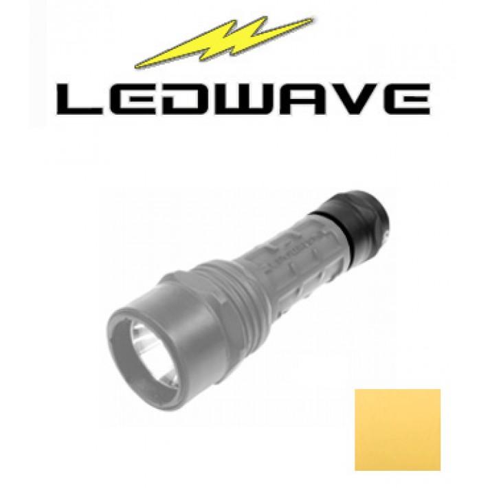 Tapa interruptor Ledwave amarilla para linternas Camo C-2 y C-4