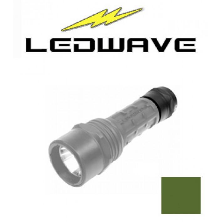 Tapa interruptor Ledwave verde para linternas Camo C-2 y C-4