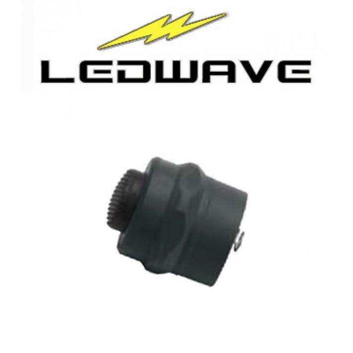 Tapa interruptor Ledwave de polímero negro para linternas C-1 y C-3