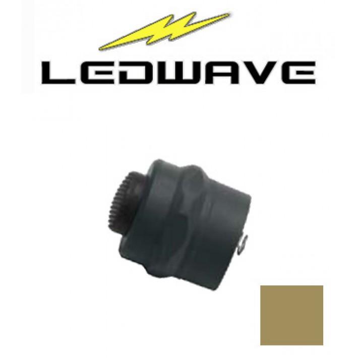 Tapa interruptor Ledwave de polímero coyote tan para linternas C-1 y C-3