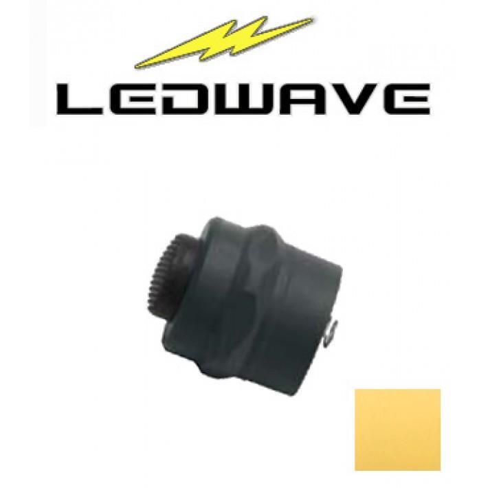Tapa interruptor Ledwave de polímero amarillo para linternas C-1 y C-3