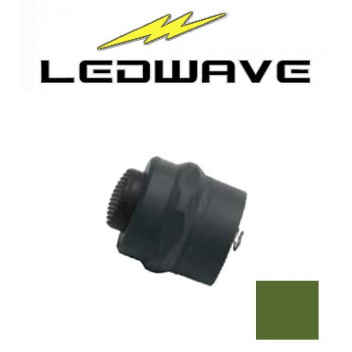 Tapa interruptor Ledwave de polímero verde para linternas C-1 y C-3