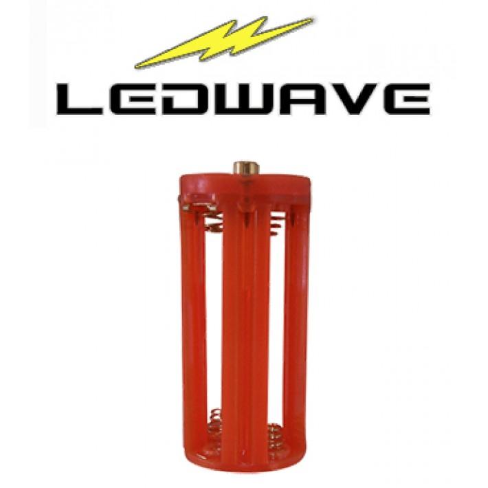 Adaptador Ledwave de 4 baterías AAA para linternas PEL-4 y PEL-5 - Color naranja