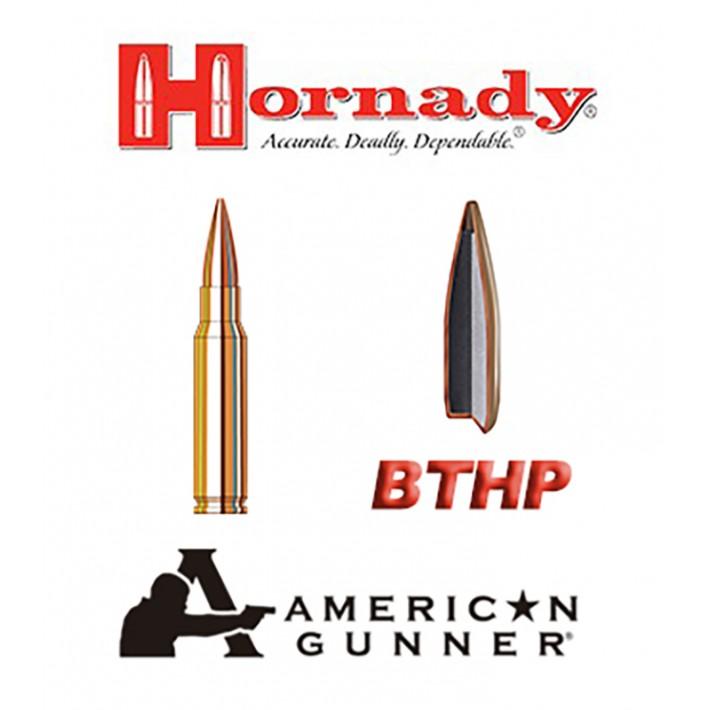 Cartuchos Hornady American Gunner .308 Winchester 155 grains BTHP