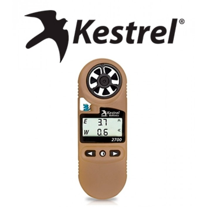 Anemómetro Kestrel 2700 Ballistics Weather Meter con Applied Ballistics Ultralite