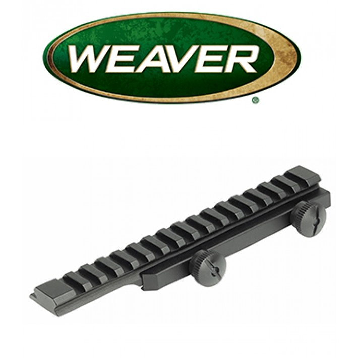 Base elevada Weaver Thumbnut Flat Top