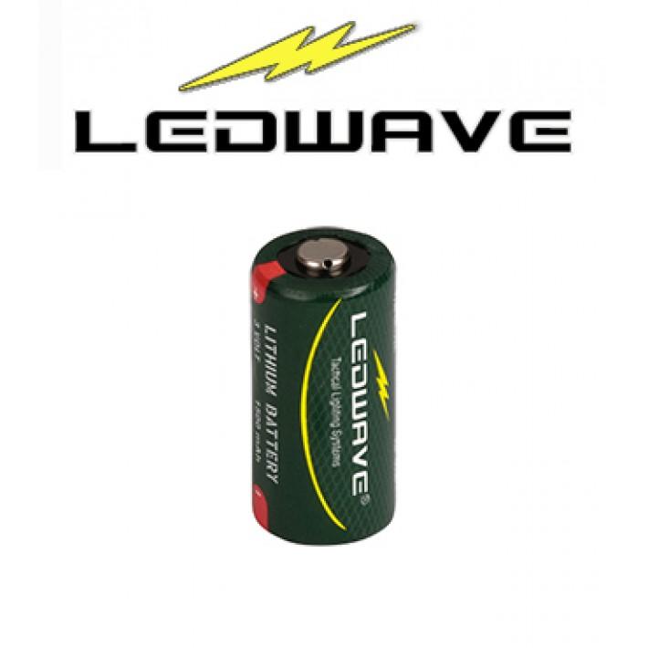 Batería CR123A de litio Ledwave de 3V