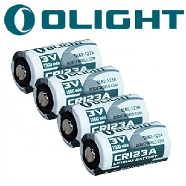 Batería recargable de litio Olight CR123 de 3V y 1500 mAh