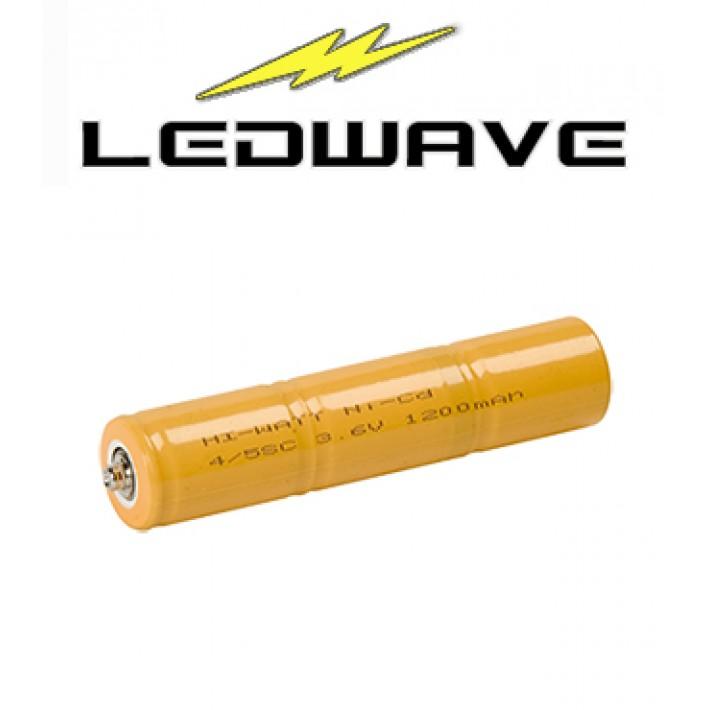 Batería recargable Ledwave 4/5SC de 3,6V y 1200 ma