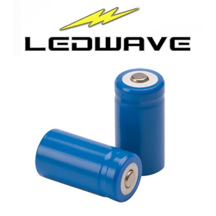 Batería recargable de litio Ledwave CR123A de 3,7V