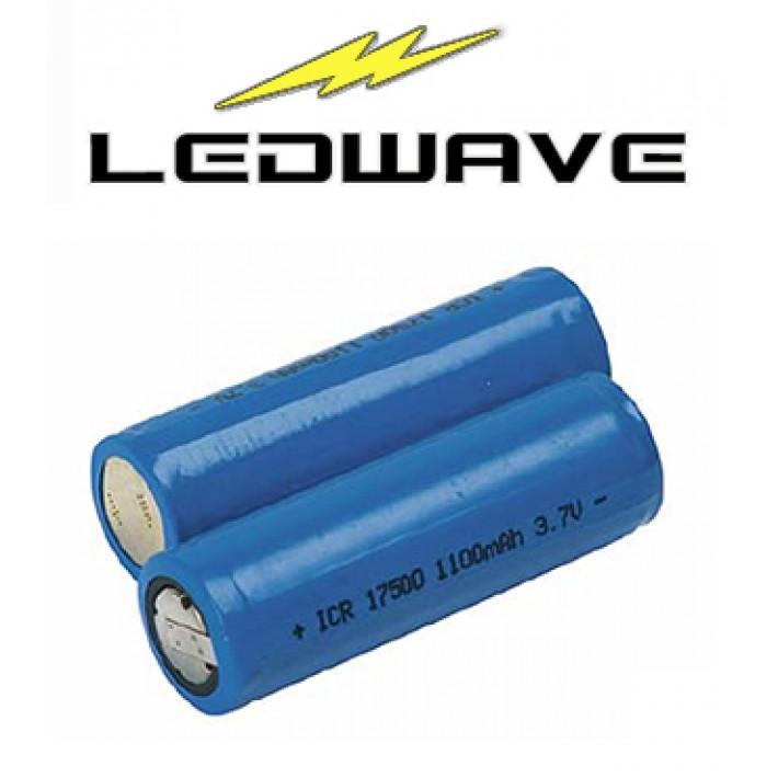 Batería recargable de litio Ledwave de 1100 ma