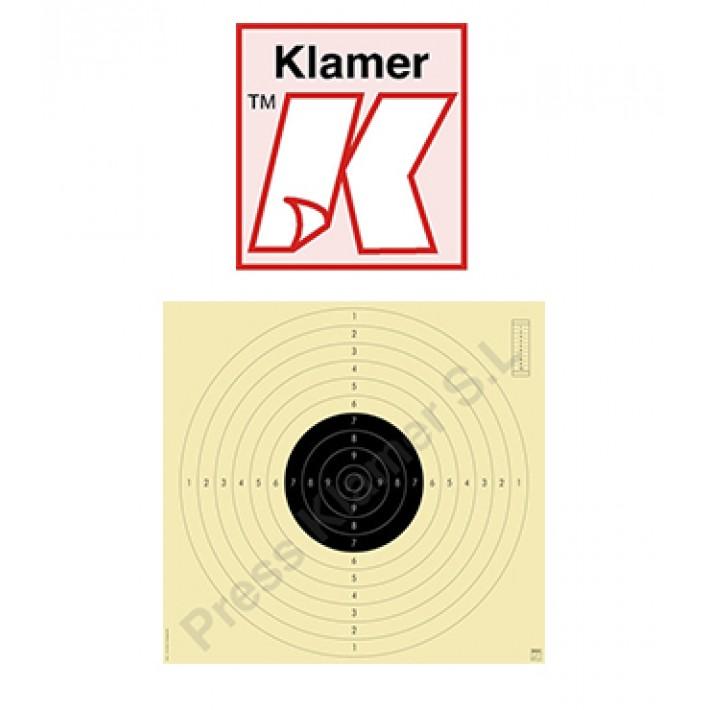 Blanco Klamer precisión 25 / 50 m ISSF - 100 unidades