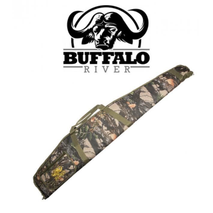 Funda Buffalo River Economy Camo de 132 cm para rifle con visor
