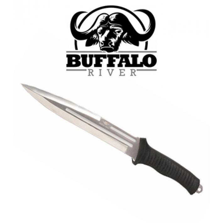 Cuchillo Buffalo River Jabalí con hoja de 19 cm con mango de goma