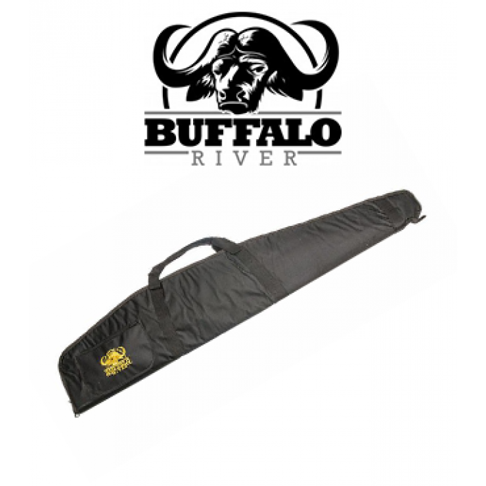 Funda Buffalo River Carry Pro Negra de 112 cm para rifle con visor
