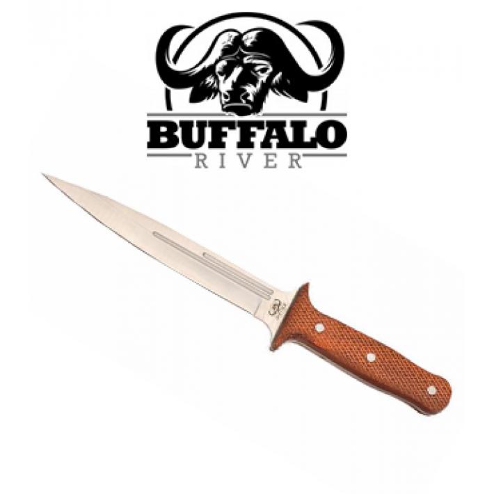 Cuchillo Buffalo River Jabalí con hoja de 19 cm con mango de madera