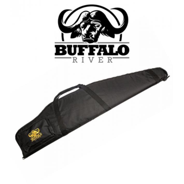 Funda Buffalo River Deluxe Negra de 132 cm para rifle con visor