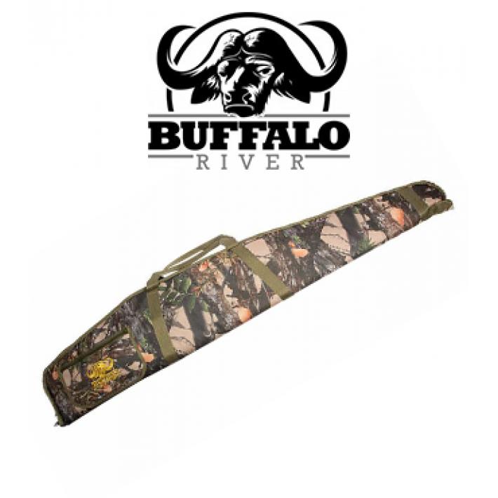 Funda Buffalo River Deluxe Camo de 112 cm para rifle con visor
