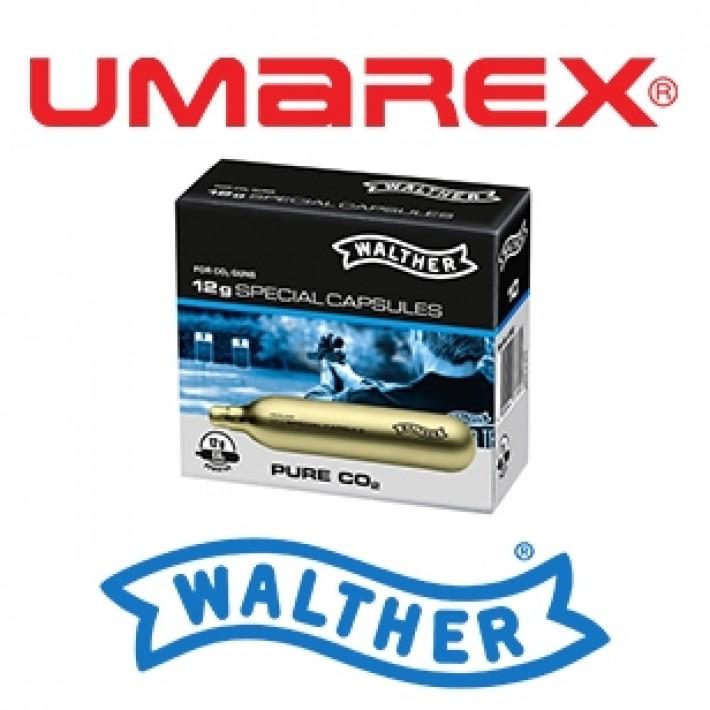 Cápsulas de CO2 Walther Standard 12g - 10 unidades