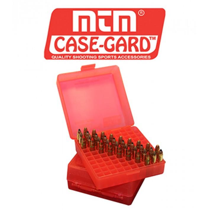 Caja para munición MTM P100 Flip Top para 100 cartuchos - Serie 22M