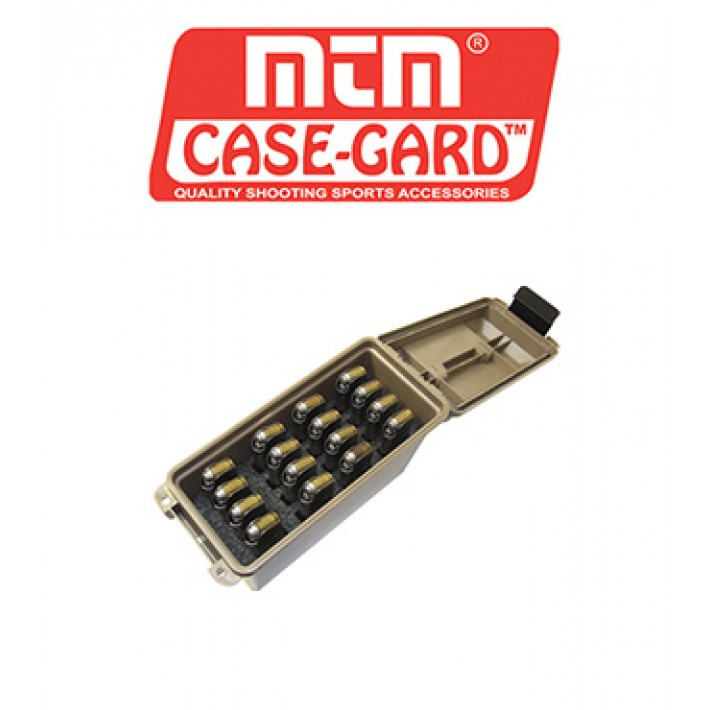 Caja para munición MTM Tactical Mag Can para 16 cargadores de arma corta 1911