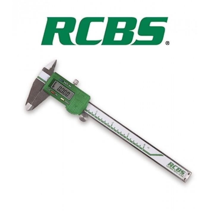 Calibre digital RCBS en pulgadas y milímetros
