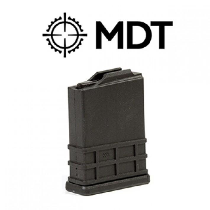 Cargador MDT AICS de polímero negro y 10 cartuchos - .223 Rem