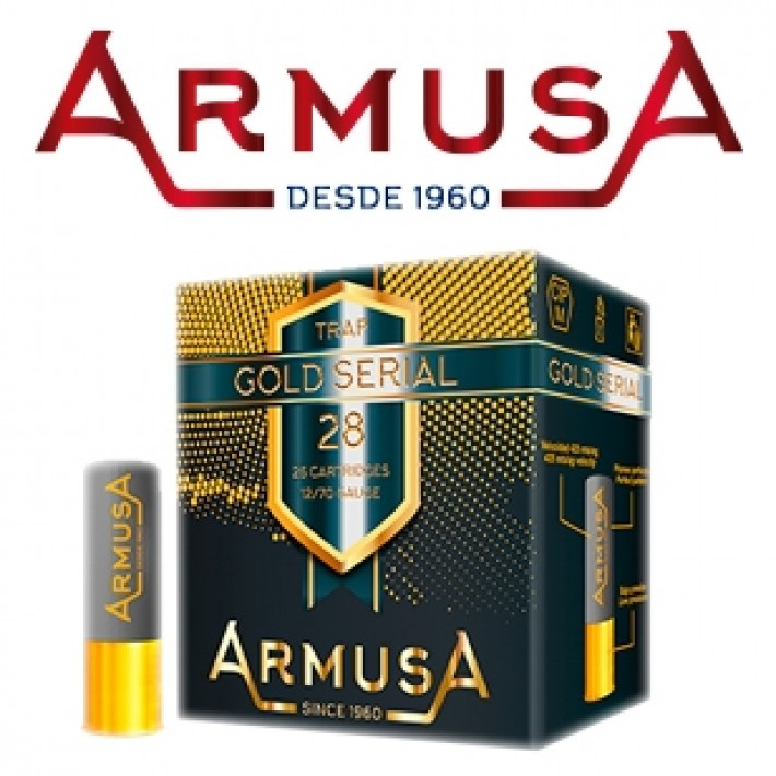 Cartuchos Armusa Gold Serial 28 gramos
