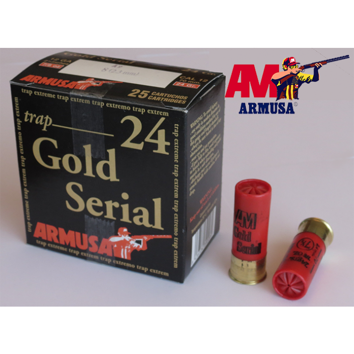 Cartuchos Armusa Gold Serial 24 gramos