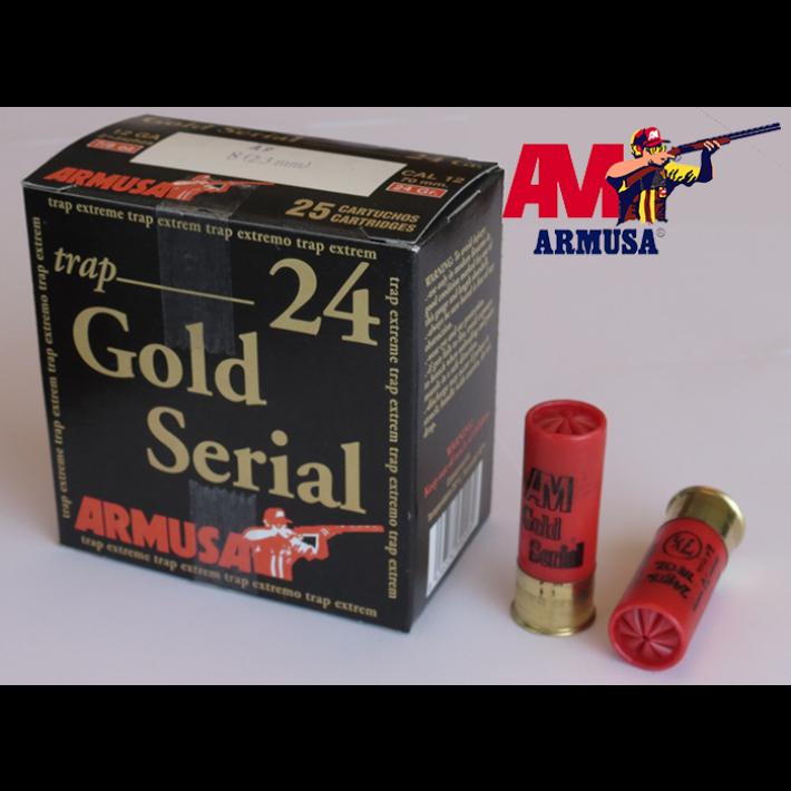 Cartuchos Armusa Gold Serial 24 gramos