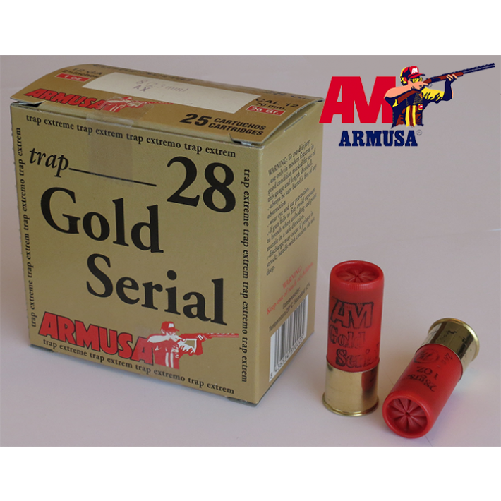 Cartuchos Armusa Gold Serial Premium 28 gramos