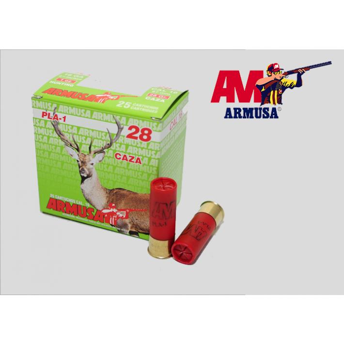 Cartuchos Armusa calibre 16/67 PLA-1 28 gramos
