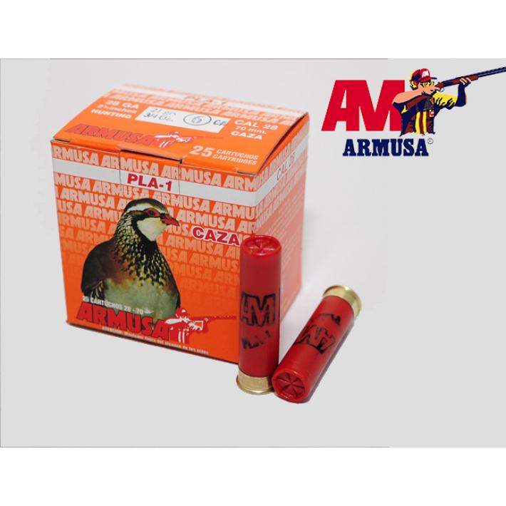 Cartuchos Armusa calibre 28/70 PLA-1 28 gramos