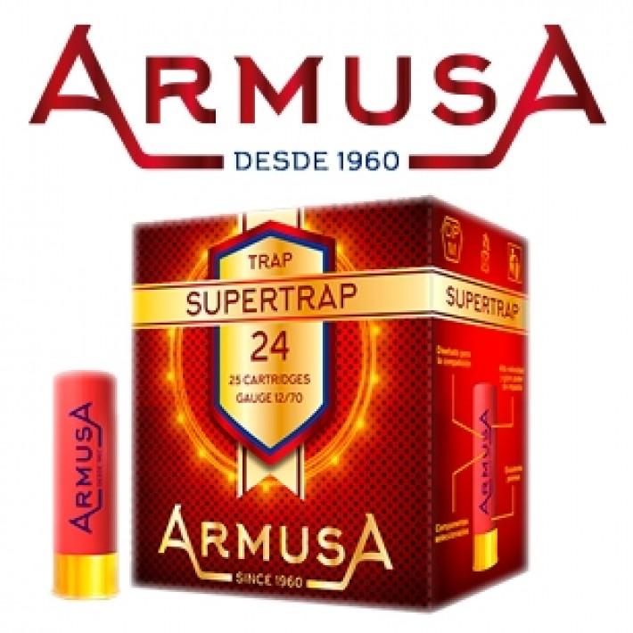 Cartuchos Armusa Super Trap Magnum 24 gramos