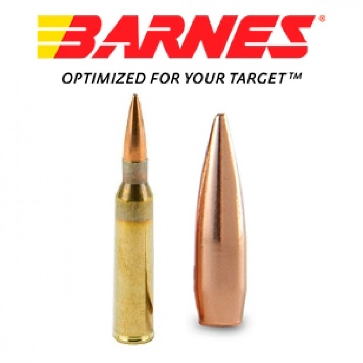 Cartuchos Barnes Precision Match 338 Lapua Magnum 300 grains HPBT