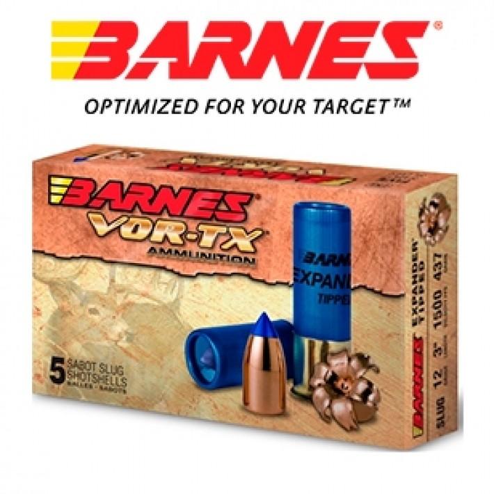 Cartuchos Barnes Vor-Tx Expander calibre 12/70 con sabot y punta Expander Tipped de 437 grains