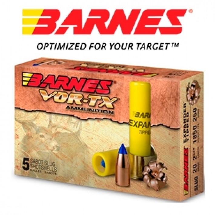 Cartuchos Barnes Vor-Tx Expander calibre 20/70 con sabot y punta Expander Tipped de 250 grains
