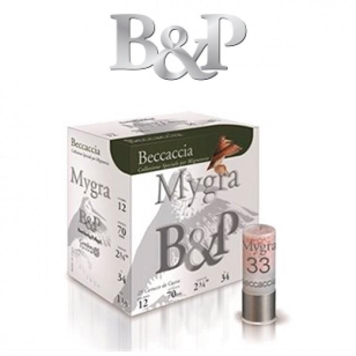 Cartuchos Baschieri & Pellagri Mygra Beccaccia 34 gramos del 8 1/2