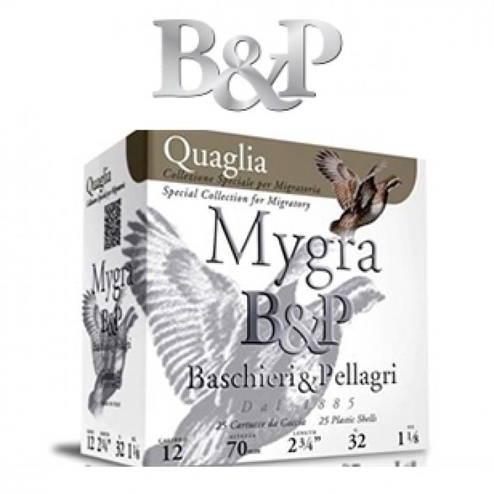 Cartuchos Baschieri & Pellagri Mygra Quaglia 32 gramos del 11