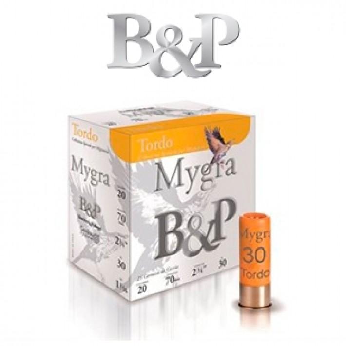Cartuchos Baschieri & Pellagri Mygra Tordo calibre 20 30 gramos del 9 1/2