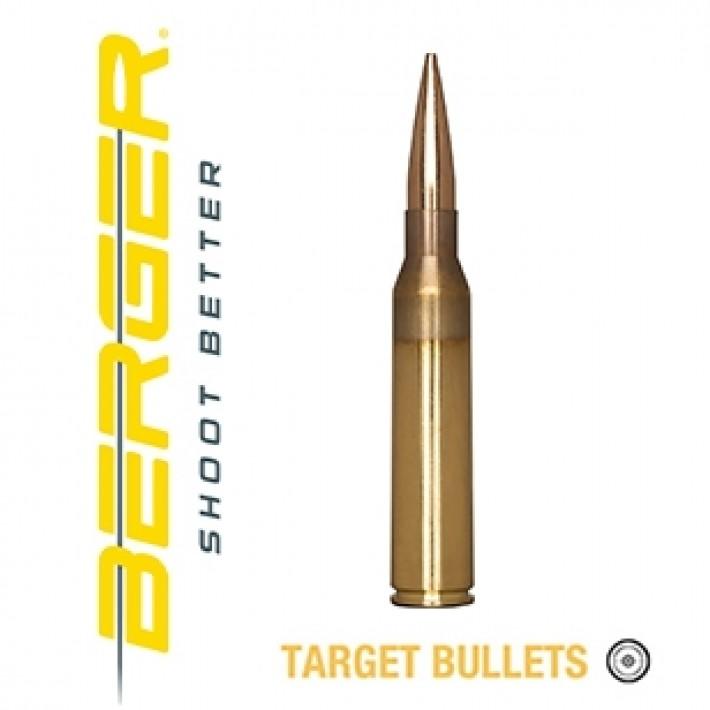 Cartuchos Berger Hybrid Target 338 Lapua Magnum 300 grains BTHP