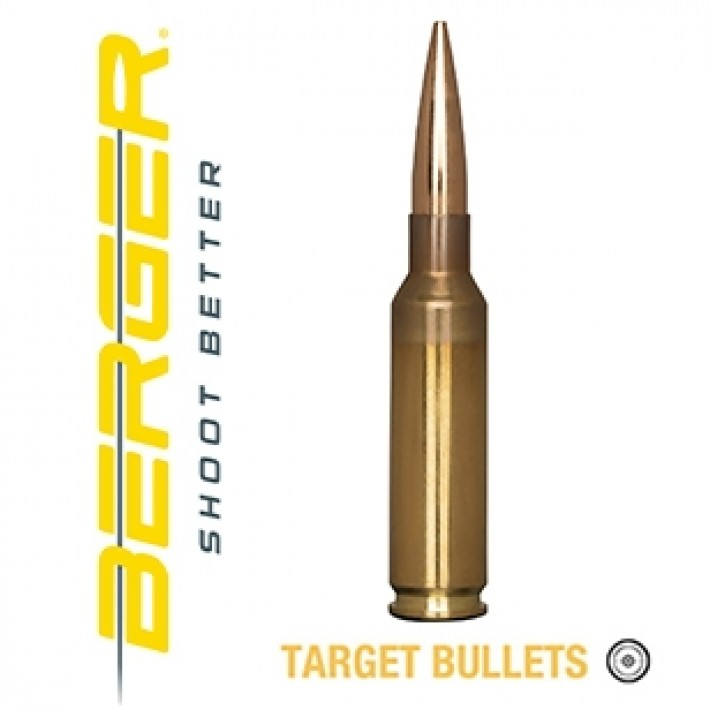 Cartuchos Berger Hybrid Target 6.5 Creedmoor 140 grains BTHP
