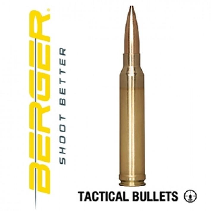 Cartuchos Berger Juggernaut OTM Tactical 300 Winchester Magnum 185 grains BTHP