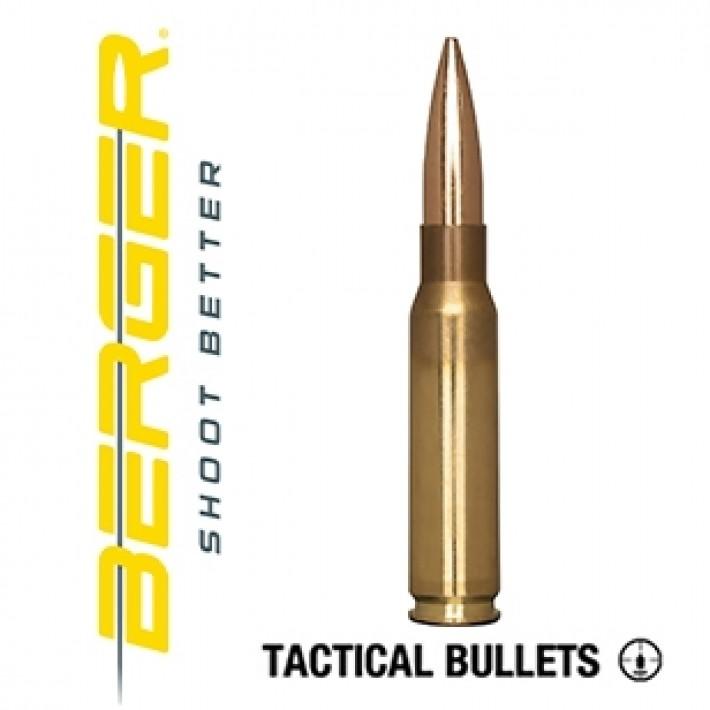 Cartuchos Berger Juggernaut OTM Tactical 308 Winchester 185 grains BTHP